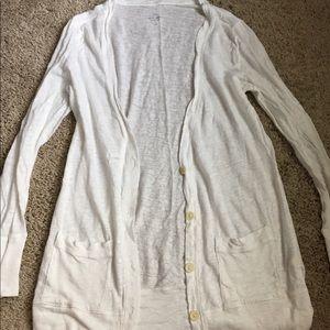 J. Crew linen cardigan white size small